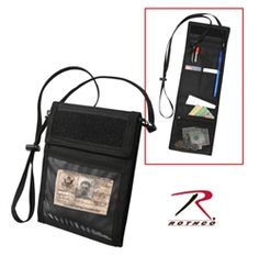 600D POLYESTER  HOLDS YOUR ACCESS CARD AND MILITARY ID SECURELY IN ONE ZIPPERED MESH POCKET  INTERNAL POCKETS THAT CAN HOLD PASSPORT, CREDIT CARDS OR ANY OTHER IMPORTANT CONTENTS  ADJUSTABLE NECK CORD  HOOK AND LOOP CLOSURES  HANDY PEN HOLDER  CLEAR VINYL WINDOW