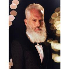 Meet Fashion Santa, Model Paul Mason ❤ liked on Polyvore featuring home, home decor, holiday decorations, holiday home decor and holiday decor
