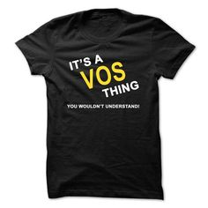 Its A Vos Thing - #gift bags #gift amor. OBTAIN => https://www.sunfrog.com/Names/Its-A-Vos-Thing.html?id=60505