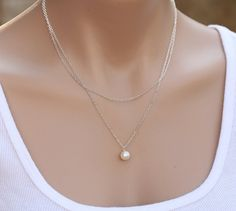 Bridesmaid giftsDouble Layered pearl by tyrahandmadejewelry, $38.50