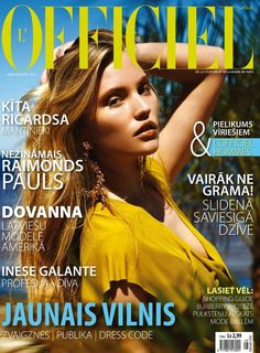L'Officiel Latvia cover with Nadia Lacka - August 2012