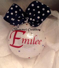 Personalized ornament for everyone on your list, friends, co-workers, teachers, babysitters. Select color and initial.