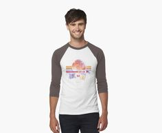Spaceship Earth and Monorail Vintage T-Shirt by retrocot