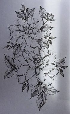 Flower Drawing 52 Beautiful Ideas Flower Tattoos - One of the most marvelous creations on the planet are flowers and we can see why because they are absolutely gorgeous. Flowers are a great element that makes for an amazing tattoo. Trendy Tattoos, Small Tattoos, Tattoos For Women, Body Art Tattoos, New Tattoos, Sleeve Tattoos, Tatoos, Flower Tattoo Designs, Flower Designs