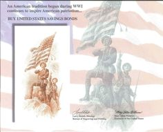 B223 BEP Souvenir Card 1997 US Savings Bonds Soldiers Flag
