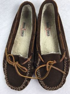 20.81$  Watch here - http://vinzh.justgood.pw/vig/item.php?t=nxy2jqp40192 - Minnetonka 4033 Chocolate Brown Faux Fur Slippers Moccasins Women's Sz 8