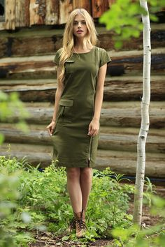 Sage Zipper Dress from the Fall Collection by Shabby Apple