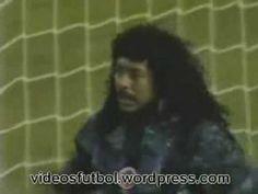 Goalkeeper Higuita does an amazing SAVE!!!!