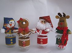 Potinhos natalinos!!! (Arte & Mimos) Tags: natal ginger noel feltro pinguim rena potinho apostila