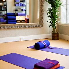 I love the frame of the mirror but I don't want to introduce bad feng shui into my space since my yoga room would feed into the bedroom. Yoga Room at The Sofia Hotel Downtown San Diego