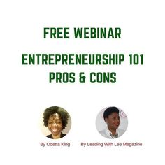What is the pros & cons of entrepreneurship? Do you have what it takes? Click link in bio to join this free webinar.