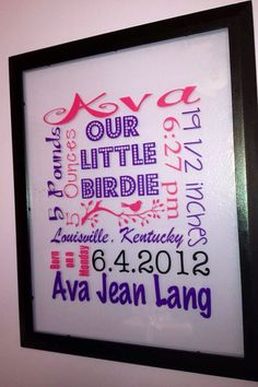 Decorating with wall vinyl baby gift personalized photo frame find this pin and more on short sweet custom creations negle Choice Image