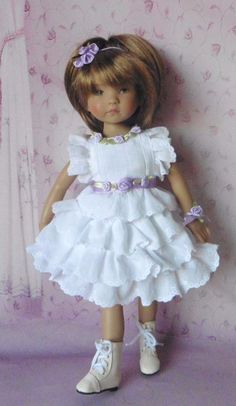 PIXIES HAND MADE: 3 PIECE OUTFIT: fits 13 INCH DOLLS like LITTLE DARLING
