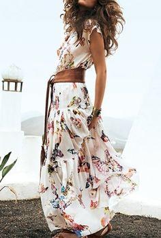 Summer Dress + Leather Belt