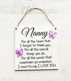 Gifts For Nana Nan Birthday Gift Nanny Personalised Grandma Her Mothers Day