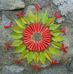 Mandala de hojas