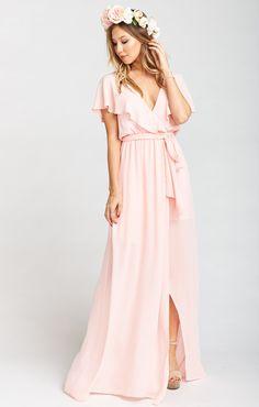 ca7374f96b2f Sophia Wrap Dress ~ Dusty Blush Crisp | Wedding in 2019 | Bridesmaid ...