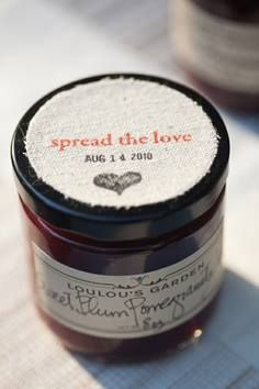 Jam favors have been a big hit this summer. After all, who doesn't love jam?