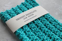 Crochet Wash Cloth Crocheted Cotton by JLZCreations