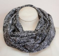 Gray Snake Print Infinity Scarf Eternity Scarf Clearance by boubo, $17.00