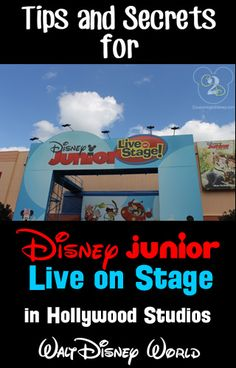 Tips and Secrets for Disney Junior Live on Stage in Hollywood Studios. This is a must see attraction for toddlers!