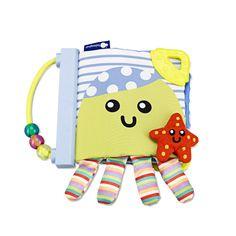 Imaginarium. Libro de tela para los primeros meses, blandito y fácil de coger, con asa, mordedores, texturas, colores…un juguete perfecto para vuestro bebé.