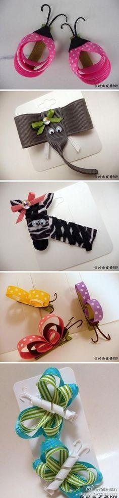 Make these cute hair clips!!