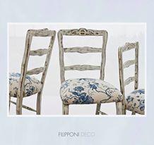 Sillas Provenzales recicladas floreadas   Espacio en el local I Store ··· #deco #decor #decorating #designyourlife #lifestyle #decoração #interiordesign #interiordecor #decotrends #silla #chair #reciclar #recycled