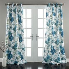 Lush Decor - Floral Paisley Window Curtains in Blue - let the light shine in