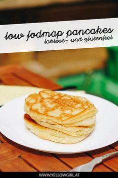 Wie manche von euch wissen, bin ich keine Süße. Ich brauche weder Nachspeisen noch esse ich besonders oft ein süßes Frühstück. Es gibt nur eine Ausnahme: Pancakes! Eines der wenigen Dinge, die ich seitdem ich low fodmap lebe sehr vermisst habe … Deshalb war ich unbeschreiblich glücklich, als meine Schwester damit anfing glutenfreie Pancakes zu probieren und dieses Rezept stellte sich als unser Favorit heraus. Fodmap, Pancakes, Brunch, German, Breakfast, Desserts, Food, Fresh Fruit, Chocolates