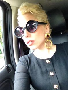 The One and Only Lady Gaga wearing some modern shades.