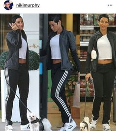 Adidas boot cut joggers (Nicole Murphy) Summer Outfits, Casual Outfits, Fashion Outfits, Casual Clothes, Adidas Boots, Nicole Murphy, 40 And Fabulous, Celebrity Bodies, Black Goddess