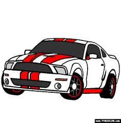 ford shelby gt500 coloring page