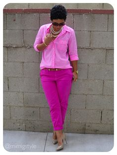 mimi g.: Pretty In Pink + How To Wear ONE Solid Color