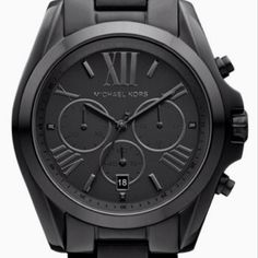 Really feeling this black MK watch.