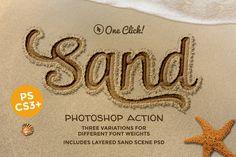Sand Photoshop Action by designdell on @creativemarket
