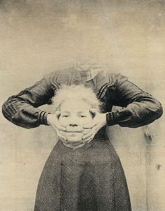 """A number of Victorian photographers combined images from more than one negative to create illusions or novelty portraits. """"Headless Photographs"""" featured men and women with """"their heads floating in the air or in their laps""""."""