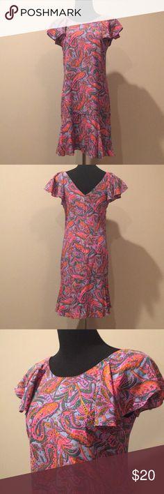 JCREW Paisley dress Worn once, size 2 J. Crew Dresses