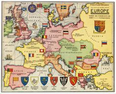 The Sherlock Holmes map of Europe, from the 1961 book edition
