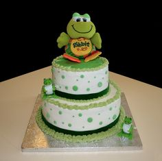 Frog birthday cake    Flour Power Cafe & Bakery San Antonio