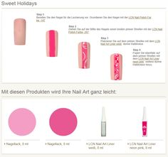 LCN Sweet Holiday Step by Step Nail Art