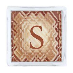 Dimensional Square-Red-S Silver Finish Lapel Pin