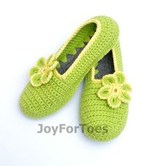 Crochet slippers House Crocheted Shoes Ballet flats Gift for her Womens fashion Daisy Flower Shoes for the Home Homemade Boots joyfortoes