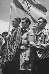 "Between 1933-1948 over 110,000 Jews ""illegally"" immigrated to Palestine under the British Mandate in the wave known as Aliyah Bet!    Picture: July 15, 1945 - Survivors from Buchenwald arrive in Haifa and are arrested by the British."