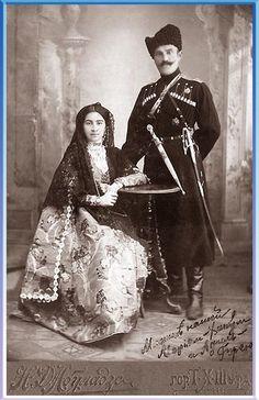 Терской казак с женой