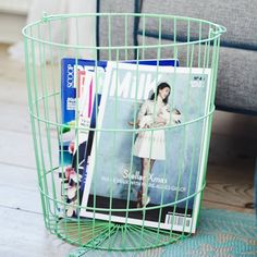 A single large round storage basket with carry handle. Perfect for storing…