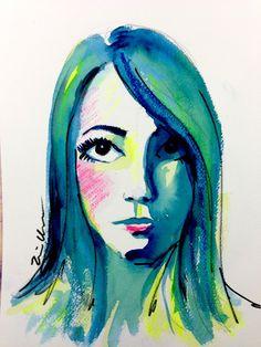 Sketchy #782: Deborah Acosta by Erin Chainani