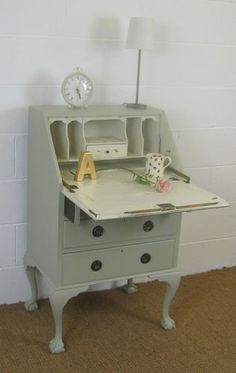 Shabby chic bureau - sekretär for changing table (not as fun as cocktail bar though!)