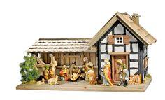 Diese Fachwerk-Krippe kann man selbst bauen. #Advent #Weihnachten #Christmas…