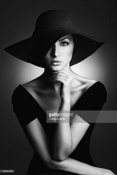 Stock Photo : Beautiful woman vintage style